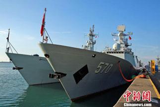 """中国海军代表团出席""""2017年亚洲国际海事防务展"""""""