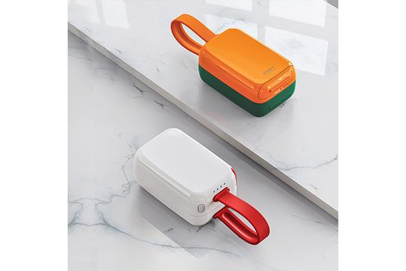 Eary 一粒自带线充电宝插头7500毫安充电器数据线便携大容量超薄