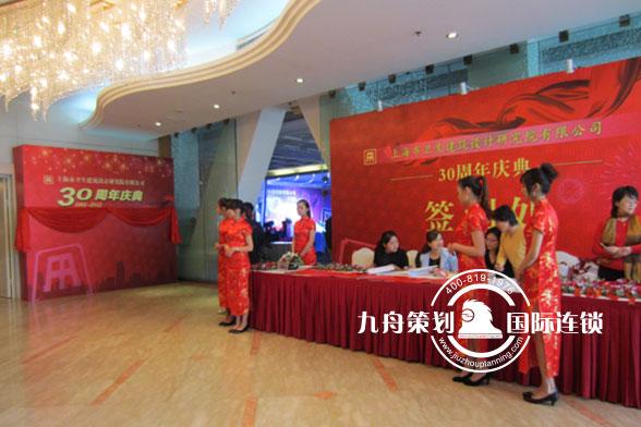 上海卫生设计研究院30周年庆典签到区